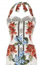 bia�a sukienka River Island w kwiaty - trendy 2012