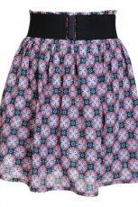 fioletowa sp�dnica Camaieu w geometryczne wzory - kolekcja wiosenno/letnia