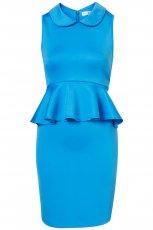 turkusowa sukienka Topshop z baskink� - wiosna/lato 2012