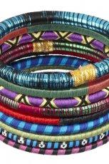 kolorowe bransoletki River Island w etniczne wzory