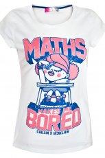 bia�y t-shirt Cropp z nadrukiem - moda 2012