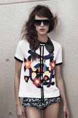 okulary przeciws�oneczne H&M kwadratowe - z kolekcji wiosna-lato 2012