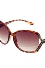 br�zowe okulary przeciws�oneczne Glitter w ciapki - wiosna/lato 2012