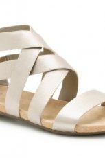 srebrne sanda�y Clarks - z kolekcji wiosna-lato 2012