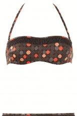 br�zowe bikini Calzedonia we wzory - z kolekcji wiosna-lato 2012