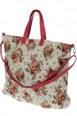 bia�a torebka Top Secret w kwiaty - wiosenna kolekcja