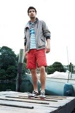 czerwone bermudy Timberland - z kolekcji wiosna-lato 2012