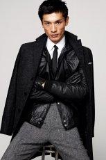 czarny p�aszcz H&M - trendy zimowe