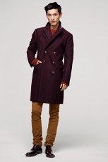 bordowy p�aszcz H&M - jesie�/zima 2012/2013