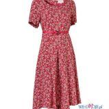 czerwona sukienka Jackpot w kwiaty - lato 2012
