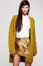 musztardowy sweter H&M - jesie�-zima 2012/2013