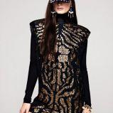 czarna tunika H&M z cekinami - jesie�-zima 2012/2013