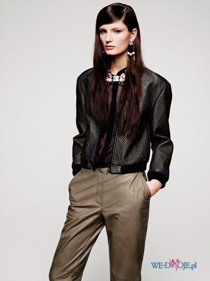 br�zowe spodnie H&M - trendy na jesie�