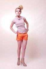 pomara�czowe szorty Anna Pop�awska - z kolekcji wiosna-lato 2012