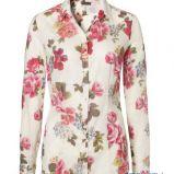bia�a bluzka s.Oliver w kwiaty z ko�nierzem - wiosna/lato 2012