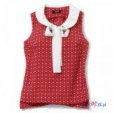 bia�a bluzka H&M z ko�nierzem - wiosna/lato 2012