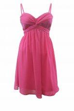 jasnor�owa sukienka H&M na rami�czkach - wiosna/lato 2012