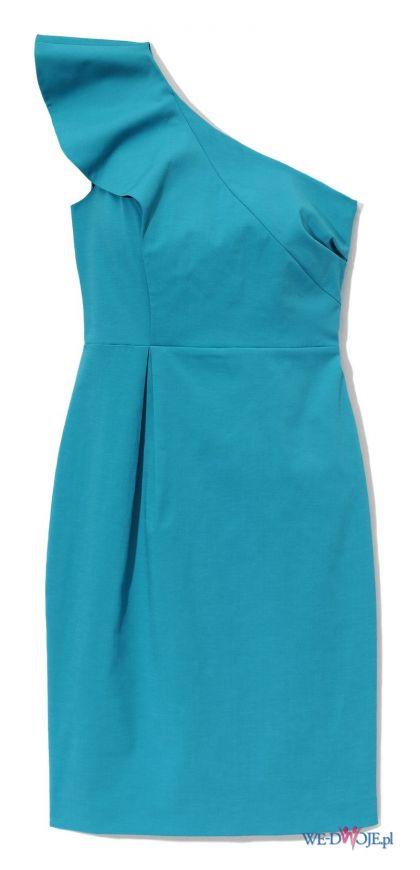 niebieska sukienka Averly London asymetryczna - wiosna/lato 2012