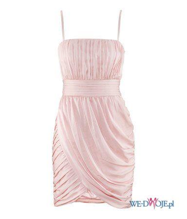 turkusowa sukienka DanHen asymetryczna - wiosna/lato 2012