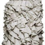 szara sukienka wieczorowa H&M z falbankami - wiosna/lato 2012