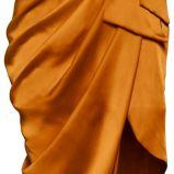 musztardowa sukienka wieczorowa H&M - wiosna/lato 2012