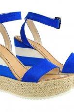 niebieskie espadryle Simple na koturnie - wiosna/lato 2012