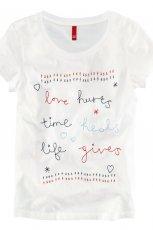 t-shirt H&M z napisami - sezon letni
