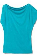 niebieski t-shirt Mohito g�adki - sezon letni
