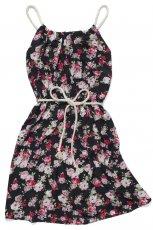 granatowa sukienka Carry w kwiaty - wiosna/lato 2012