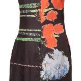 Czarna sukienka Solar w kwiaty