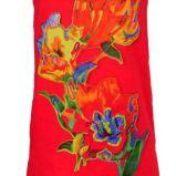 czerwona sukienka Solar w kwiaty - lato 2012