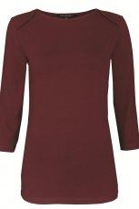 br�zowa bluzka Topshop z r�kawem 3/4 - jesie� 2012