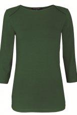 ciemnozielona bluzka Topshop z r�kawem 3/4 - jesie� 2012