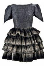 popielata sukienka Bizuu z falbankami - jesie�/zima 2012/2013