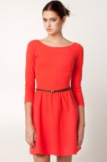 pomara�czowa sukienka Stradivarius - lato 2012