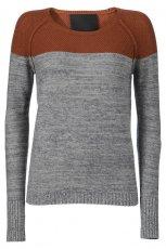 szaro-br�zowy sweter InWear dopasowany - jesie�-zima 2012/2013