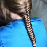 Dziewcz�cy warkocz - k�os - modne fryzury