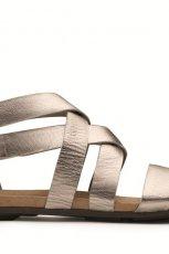 srebrne sanda�y Clarks z zamkiem - lato 2012