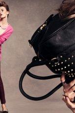 czarna torebka H&M z �wiekami - jesie� 2012