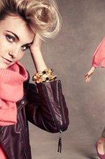 fioletowa kurtka H&M - jesie� 2012