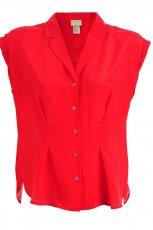 koralowa bluzka H&M z ko�nierzem - lato 2012