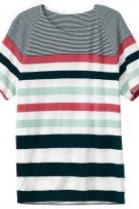 kolorowy t-shirt H&M w paski - lato 2012