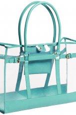 turkusowa torebka H&M prze�wituj�ca - jesie�-zima 2012/2013