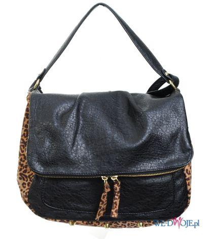 czarna torebka H&M w panterkę - jesień-zima... - Najmodniejsze ...