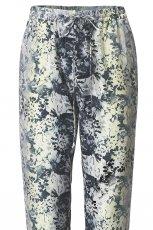 bia�e spodnie H&M we wzorki materia�owe - lato 2012