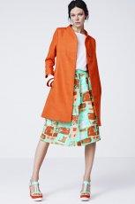 pomara�czowy p�aszcz H&M z guzikami - letnia kolekcja