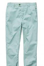 turkusowe spodnie H&M materia�owe - lato 2012