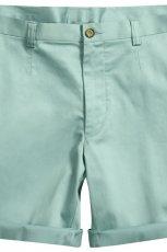 seledynowe spodnie H&M materia�owe - lato 2012