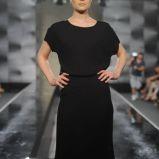 czarna sukienka wieczorowa Zie� z kr�tkim r�kawem - jesie�/zima 2012/2013
