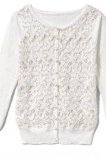 bia�y sweter Reserved z koronk� - jesie�/zima 2012/2013